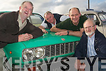 CAR MAD: Anthony OHalloran, Tralee, Mike Lynch, Lisselton, Sean OSullivan,.Firies, and Billy Kennelly, Listowel, all having a great time at the Kingdom Vintage and.Veteran Car Club Rally on Friday evening, which left from the Thatch Bar, Lisselton.