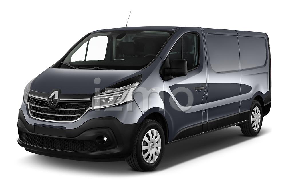 2020 Renault Trafic Grand-Confort 4 Door Cargo Van angular front stock photos of front three quarter view