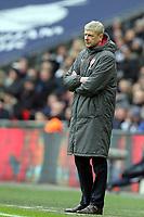 Arsenal manager Arsene Wenger during Tottenham Hotspur vs Arsenal, Premier League Football at Wembley Stadium on 10th February 2018