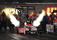 Oct. 31, 2008; Las Vegas, NV, USA: NHRA top fuel dragster driver Doug Herbert during qualifying for the Las Vegas Nationals at The Strip in Las Vegas. Mandatory Credit: Mark J. Rebilas-