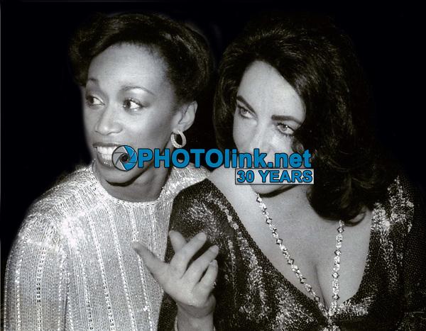 Altovese Davis and Elizabeth Taylor 1978<br /> Photo By John Barrett/PHOTOlink