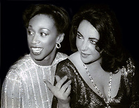 Altovese Davis and Elizabeth Taylor 1978<br /> Photo By John Barrett/PHOTOlink