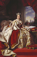Portrait of Queen Victoria in her coronation robes and wearing the State Diadem. Presumably painted for Edward VII and his wife Alexandra, when Prince and Princess of Wales.<br /> Date <br /> <br /> ca. 1870