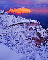 Winter sunrise at Mather Point, Grand Canyon National Park, Arizona  Colorado River South Rim