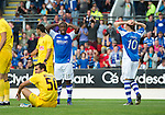 St Johnstone v Eskisehirspor...26.07.12  Europa League Qualifyer.Nigel Hasselbaink and Liam Craig rue a missed chance.Picture by Graeme Hart..Copyright Perthshire Picture Agency.Tel: 01738 623350  Mobile: 07990 594431
