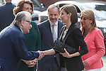 Queen Letizia of Spain arrives to a meeting with the Spanish Association Against Cancer (AECC) in Madrid, Spain. June 09, 2015. (ALTERPHOTOS/Victor Blanco)