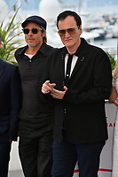 "CANNES, FRANCE. May 22, 2019: Brad Pitt & Quentin Tarantino at the photocall for ""Once Upon a Time in Hollywood"" at the 72nd Festival de Cannes.<br /> Picture: Paul Smith / Featureflash"