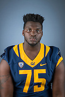 BERKELEY, CA - July 31, 201. The California Bears Football Team 2016-2017 Portraits