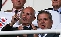 WBA Manager Tony PULIS watches from the stands during the Sky Bet Championship match between Reading and Aston Villa at the Madejski Stadium, Reading, England on 15 August 2017. Photo by Andy Rowland / PRiME Media Images.