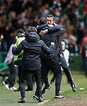 Ronny Deila celebrates as Celtic snatch a late draw from Inter Milan