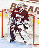 Kevin Boyle (UMass - 33) - The Boston College Eagles defeated the University of Massachusetts-Amherst Minutemen 3-2 to take their Hockey East Quarterfinal matchup in two games on Saturday, March 10, 2012, at Kelley Rink in Conte Forum in Chestnut Hill, Massachusetts.