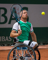 Paris, France, 7 June, 2017, Tennis, French Open, Roland Garros,  Wheelchair men, Maikel Scheffers (NED)<br /> Photo: Henk Koster/tennisimages.com