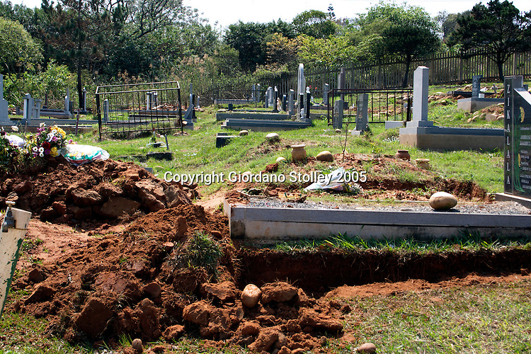 DURBAN - 14 September 2005 - Graves that were dug up at the Mobeni Heights Cemetery were allgedly dug up as part of a grave recycling scam at the cemetery in Durban's Chatsworth area. Picture: Giordano Stolley/ Allied Picture Press/ APP