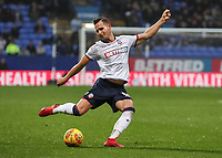 Bolton Wanderers' Pawel Olkowski shoots at goal <br /> <br /> Photographer Andrew Kearns/CameraSport<br /> <br /> The EFL Sky Bet Championship - Bolton Wanderers v Wigan Athletic - Saturday 1st December 2018 - University of Bolton Stadium - Bolton<br /> <br /> World Copyright © 2018 CameraSport. All rights reserved. 43 Linden Ave. Countesthorpe. Leicester. England. LE8 5PG - Tel: +44 (0) 116 277 4147 - admin@camerasport.com - www.camerasport.com
