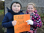 Dillon and Joy Mooney from Oulster Lane pictured at the march against the closure of the Cottage Hospital. Photo: Colin Bell/pressphotos.ie