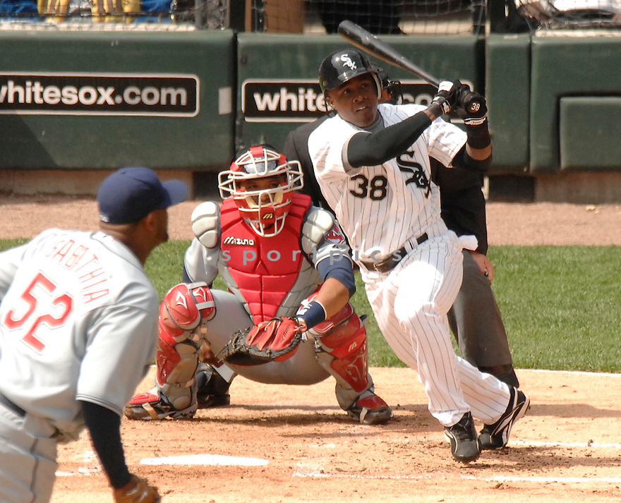 PABLO OZUNA, of the  Chicago White Sox, during their  against the Cleveland Indians on April 2, 2007 in Chicago, Illinois...Indians win 12-5...DAVID DUROCHIK / SPORTPICS