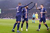 JOIE - 10 NEYMAR JR (PSG) - 07 KYLIAN MBAPPE (PSG) - 11 ANGEL DI MARIA (PSG)<br /> 04/12/2019<br /> Paris Saint Germain PSG - Nantes <br /> Calcio Ligue 1 2019/2020 <br /> Foto Philippe LECOEUR Panoramic/insidefoto <br /> ITALY ONLY