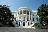 High Resolution view of the newly renovated steps on the  South Portico of the White House in Washington, DC on Tuesday, August 22, 2017. <br /> Credit: Ron Sachs / CNP