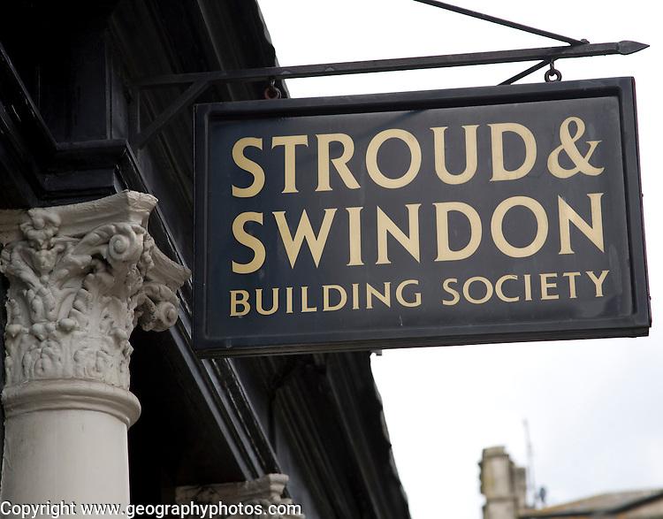 Stroud and Swindon building society sign, Bath