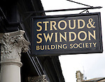Stroud and Swindon building society sign, Bath