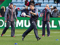 Sarah Hunter during warm up, England Women v New Zealand Women in an Old Mutual Wealth Series, Autumn International match at Twickenham Stoop, Twickenham, England, on 19th November 2016. Full Time score 20-25
