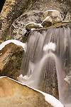 Cascade Falls, ice, Yosemite National Park, Calif.