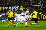 09.03.2019, Signal Iduna Park, Dortmund, GER, 1.FBL, Borussia Dortmund vs VfB Stuttgart, DFL REGULATIONS PROHIBIT ANY USE OF PHOTOGRAPHS AS IMAGE SEQUENCES AND/OR QUASI-VIDEO<br /> <br /> im Bild   picture shows:<br /> Axel Witsel (Borussia Dortmund #28) mit Alexander Esswein (VfB Stuttgart #14), <br /> <br /> Foto &copy; nordphoto / Rauch