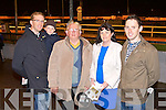 NIGHT AT THE DOGS: Having great fun at the Spa NS and Churchill GAA Night at the Dogs at the Kingdom Greyhound Stadium on Saturday l-r: Stephen and Donnacha Buttimer, Jim Wrenn, Tracy O'Sullivan and Maurice Wrenn.