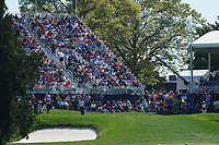 Lucas Bjerregaard (DEN) on the 18th green during the 3rd round at the PGA Championship 2019, Beth Page Black, New York, USA. 19/05/2019.<br /> Picture Fran Caffrey / Golffile.ie<br /> <br /> All photo usage must carry mandatory copyright credit (© Golffile | Fran Caffrey)