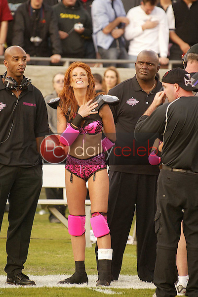 Angie Everhart and Lawrence Taylor