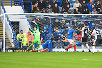 Alex Lacey of Gillingham (4) scores the second goal  during Portsmouth vs Gillingham, Sky Bet EFL League 1 Football at Fratton Park on 6th October 2018