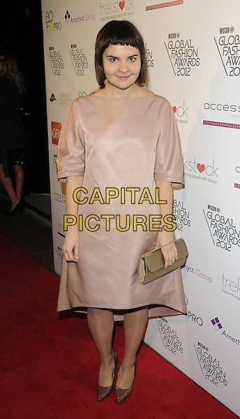 Masha Reva.The WGSN Global Fashion Awards, Savoy Hotel, The Strand, London, England..November 5th, 2012.full length pink dress gold clutch bag.CAP/CAN.©Can Nguyen/Capital Pictures.
