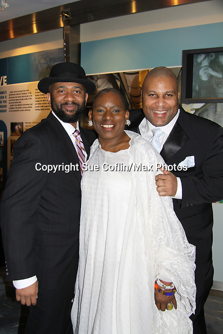 David Boykins, Nana Malaya, Layon Gray - The United States Memorial Celebrates Black History Month with a benefit performance of the Layon Gray's Black Angels Over Tuskegee attend the gala on February 22, 2011 in Washington, DC before performing on Friday, February 25. (Photo by Sue Coflin/Max Photos)