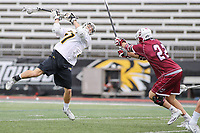 Towson, MD - May 6, 2017: Towson Tigers Mike Lynch (27) attempts a shot during game between Towson and UMASS at  Minnegan Field at Johnny Unitas Stadium  in Towson, MD. May 6, 2017.  (Photo by Elliott Brown/Media Images International)
