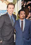 HOLLYWOOD, CA - MARCH 20: Actors Dax Shepard (L) and Michael Peña arrive at the premiere of Warner Bros. Pictures' 'CHiPS' at TCL Chinese Theatre on March 20, 2017 in Hollywood, California.