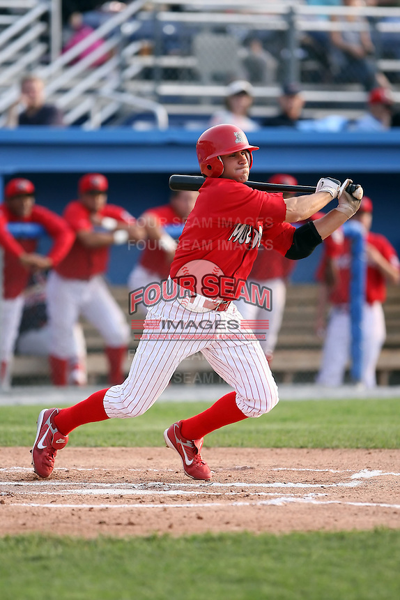 June 21st 2008:  Infielder Colt Sedbrook (2) of the Batavia Muckdogs, Class-A affiliate of the St. Louis Cardinals, during a game at Dwyer Stadium in Batavia, NY.  Photo by:  Mike Janes/Four Seam Images