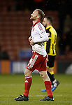 Matt Done of Sheffield Utd dejected - English League One - Sheffield Utd vs Burton Albion - Bramall Lane Stadium - Sheffield - England - 1st March 2016 - Pic Simon Bellis/Sportimage