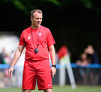 Lincoln United coach Stuart Reddington during the pre-match warm-up <br /> <br /> Photographer Chris Vaughan/CameraSport<br /> <br /> Football - Pre-Season Friendly - Lincoln United v Lincoln City - Saturday 8th July 2017 - Sun Hat Villas Stadium - Lincoln<br /> <br /> World Copyright &copy; 2017 CameraSport. All rights reserved. 43 Linden Ave. Countesthorpe. Leicester. England. LE8 5PG - Tel: +44 (0) 116 277 4147 - admin@camerasport.com - www.camerasport.com