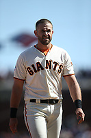 SAN FRANCISCO, CA - APRIL 8:  Evan Longoria #10 of the San Francisco Giants stands on the field against the Los Angeles Dodgers during the game at AT&T Park on Sunday, April 8, 2018 in San Francisco, California. (Photo by Brad Mangin)