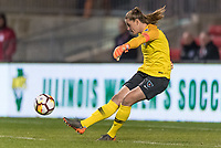 Bridgeview, IL - Saturday March 31, 2018: Alyssa Naeher during a regular season National Women's Soccer League (NWSL) match between the Chicago Red Stars and the Portland Thorns FC at Toyota Park.
