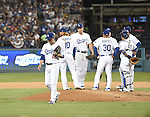 Kenta Maeda (Dodgers),<br /> OCTOBER 20, 2016 - MLB :<br /> Kenta Maeda of the Los Angeles Dodgers walks back to the dugout after being pulled by manager Dave Roberts in the fourth inning during the game five of the National League Championship Series against the Chicago Cubs on October 20, 2016, at Dodger Stadium in Los Angeles, CA. (Photo by AFLO)