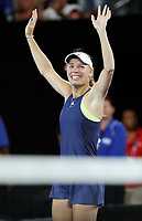 MELBOURNE,AUSTRALIA,27.JAN.18 - TENNIS - WTA World Tour, Grand Slam, Australian Open. Image shows the rejoicing of Caroline Wozniacki (DEN). Photo: GEPA pictures/ Matthias Hauer / Copyright : explorer-media