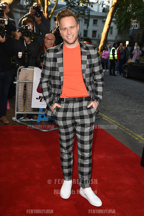 """LONDON, UK. October 03, 2018: Olly Murs at the premiere of """"Johnny English Strikes Again"""" at the Curzon Mayfair, London.<br /> Picture: Steve Vas/Featureflash"""