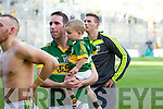 Declan O'Sullivan and his son Ollie. Kerry players celebrate after they defeated  Donegal in the All Ireland Senior Football Final in Croke Park Dublin on Sunday 21st September 2014.