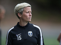 Seattle, WA - Saturday Aug. 27, 2016: Megan Rapinoe prior to a regular season National Women's Soccer League (NWSL) match between the Seattle Reign FC and the Portland Thorns FC at Memorial Stadium.