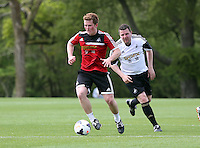 Pictured: Gareth Vincent (R). Tuesday 06 May 2014<br />