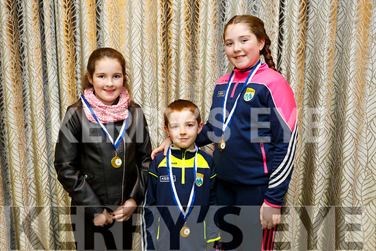 At the  Tralee Parnells Awards night in the Rose Hotel on Friday were Sileoonagh Mansfield, Tighernach Mansfield and Labhaoise Mansfield