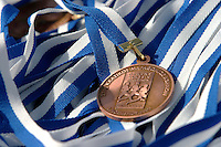 02 NOV 2003 - ATHENS, GREECE - 21st Athens Classic Marathon finishers medal. (PHOTO (C) NIGEL FARROW)