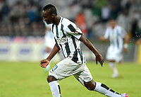 MEDELLIN - COLOMBIA -10-09-2015: Marlos Moreno, jugador de Atletico Nacional celebra el gol anotado a Deportivo Cali, durante partido entre Atletico Nacional y Deportivo Cali, por la fecha 11 de la Liga Aguila II 2015, en el estadio Atanasio Girardot de la ciudad de Medellin.  / Marlos Moreno, player of Atletico Nacional celebrates a scored goal to Deportivo Cali, during a match Atletico Nacional and Deportivo Cali, for the date 11 of the la Liga Aguila II 2015 at the Atanasio Girardot stadium in Medellin city. Photo: VizzorImage  / Leon Monsalve / Cont.