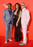 LOS ANGELES, CA. January 28, 2019: James Lopez, Taraji P. Henson &amp; Alan Shankman at the US premiere of &quot;What Men Want!&quot; at the Regency Village Theatre, Westwood.<br /> Picture: Paul Smith/Featureflash